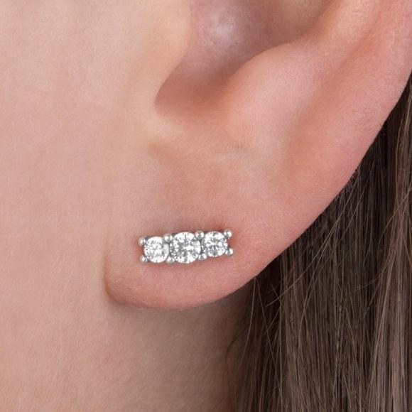 f27659353723a Pandora Sparkling Elegance Earrings, Clear CZ